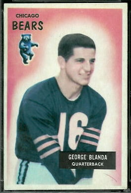 George Blanda 1955 Bowman football card