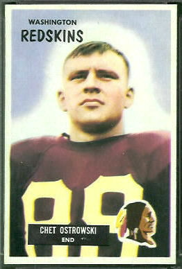 Chet Ostrowski 1955 Bowman football card