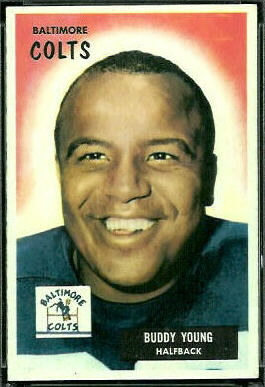Buddy Young 1955 Bowman football card