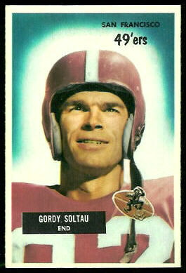 Gordon Soltau 1955 Bowman football card