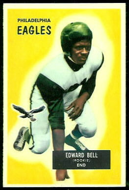 Eddie Bell 1955 Bowman football card
