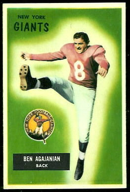 Ben Agajanian 1955 Bowman football card