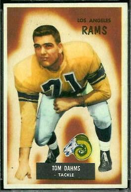 Tom Dahms 1955 Bowman football card