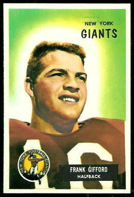 Frank Gifford 1955 Bowman football card