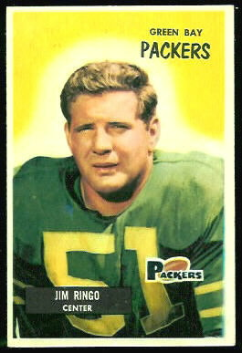 Jim Ringo 1955 Bowman football card
