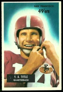 Y.A. Tittle 1955 Bowman football card