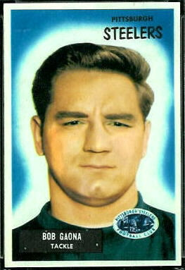 Bob Gaona 1955 Bowman football card
