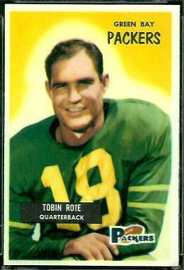 Tobin Rote 1955 Bowman football card