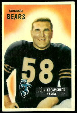 John Kreamcheck 1955 Bowman football card