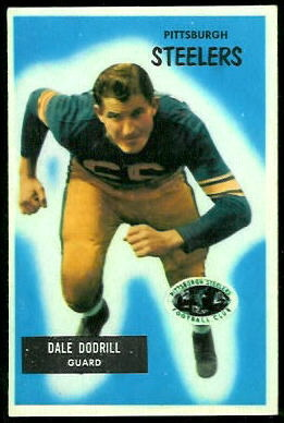 Dale Dodrill 1955 Bowman football card