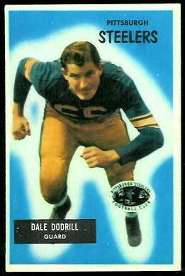Dale Dodrill 1955 Bowman football card