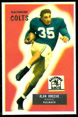 Alan Ameche 1955 Bowman football card