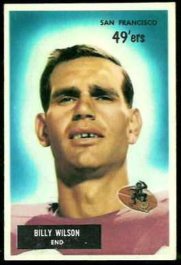 Billy Wilson 1955 Bowman football card