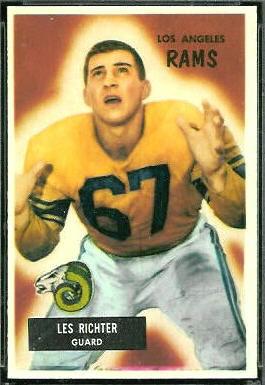 Les Richter 1955 Bowman football card