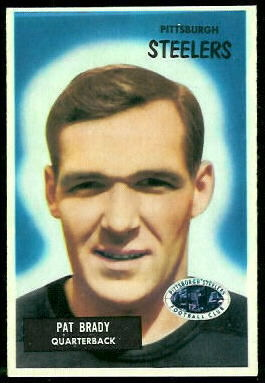 Pat Brady 1955 Bowman football card