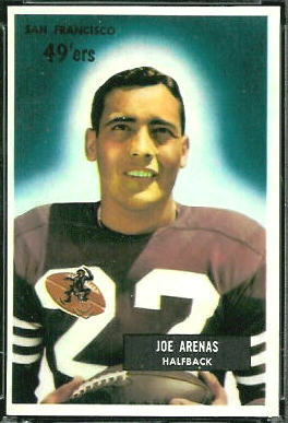 Joe Arenas 1955 Bowman football card