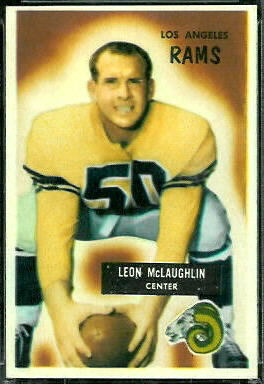 Leon McLaughlin 1955 Bowman football card