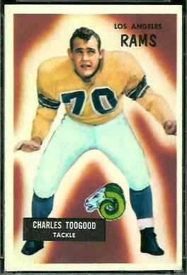 Charles Toogood 1955 Bowman football card