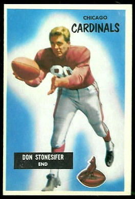 Don Stonesifer 1955 Bowman football card