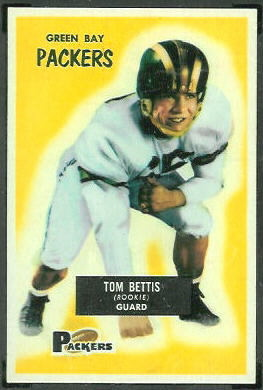 Tom Bettis 1955 Bowman football card