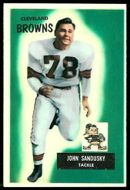 John Sandusky 1955 Bowman football card