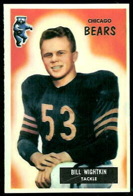 Bill Wightkin 1955 Bowman football card