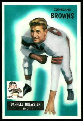 Pete Brewster 1955 Bowman football card