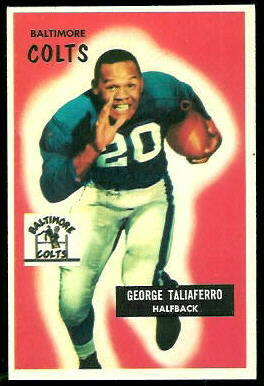 George Taliaferro 1955 Bowman football card