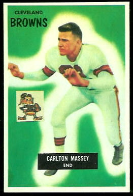 Carlton Massey 1955 Bowman football card