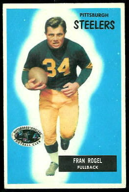 Fran Rogel 1955 Bowman football card