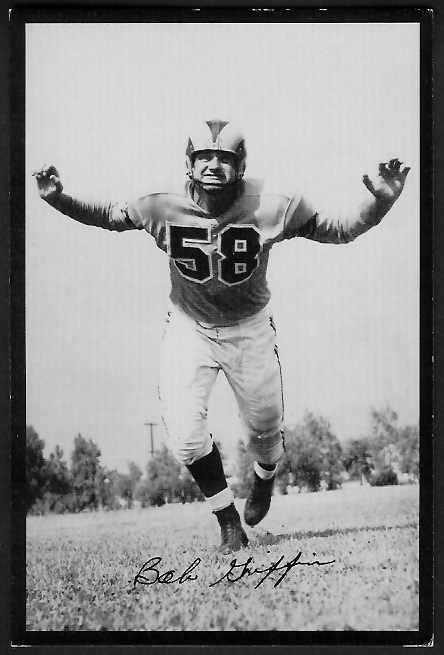 Bob Griffin 1955 Rams Team Issue football card