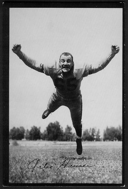 Art Hauser 1955 Rams Team Issue football card