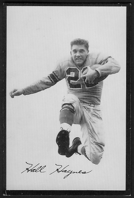Hall Haynes 1955 Rams Team Issue football card