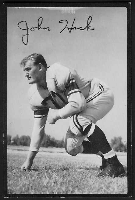 John Hock 1955 Rams Team Issue football card