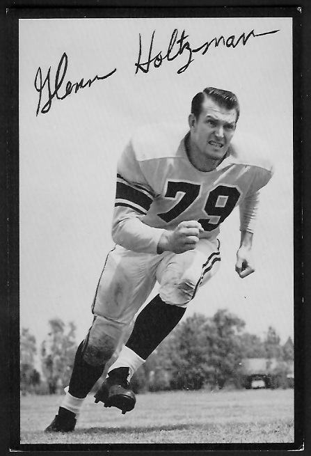 Glenn Holtzman 1955 Rams Team Issue football card