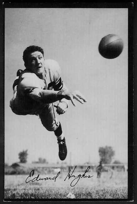 Ed Hughes 1955 Rams Team Issue football card