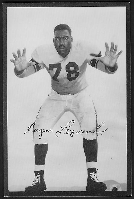 Gene Lipscomb 1955 Rams Team Issue football card