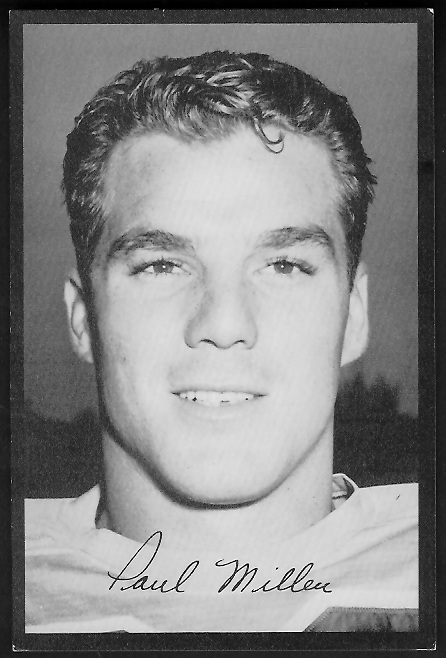 Paul Miller 1955 Rams Team Issue football card