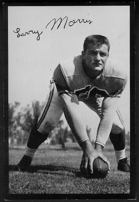 Larry Morris 1955 Rams Team Issue football card