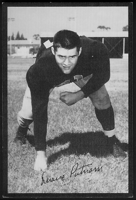 Duane Putnam 1955 Rams Team Issue football card