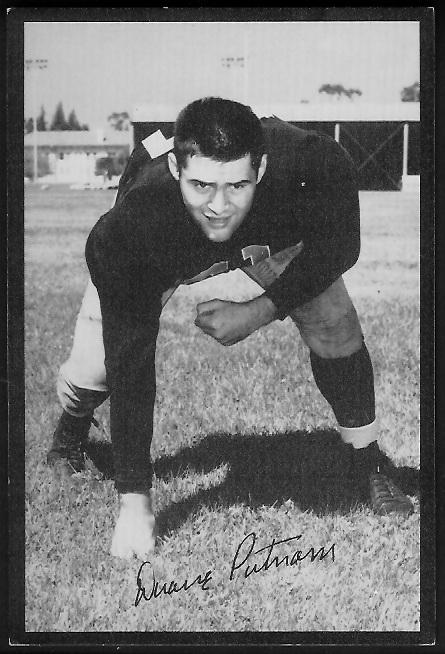 Duane Putnam 1955 Rams Team Issue football card