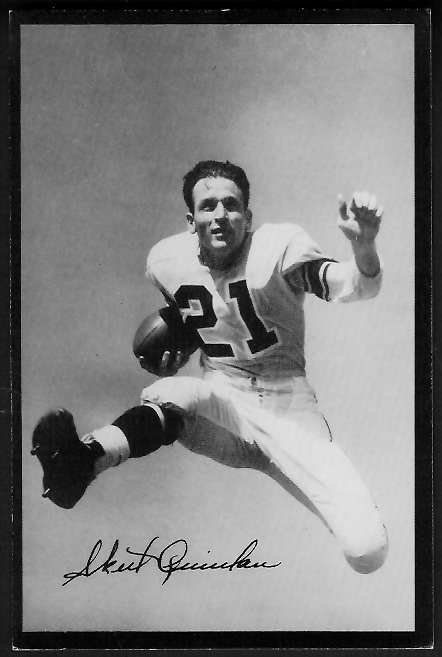 Volney Quinlan 1955 Rams Team Issue football card