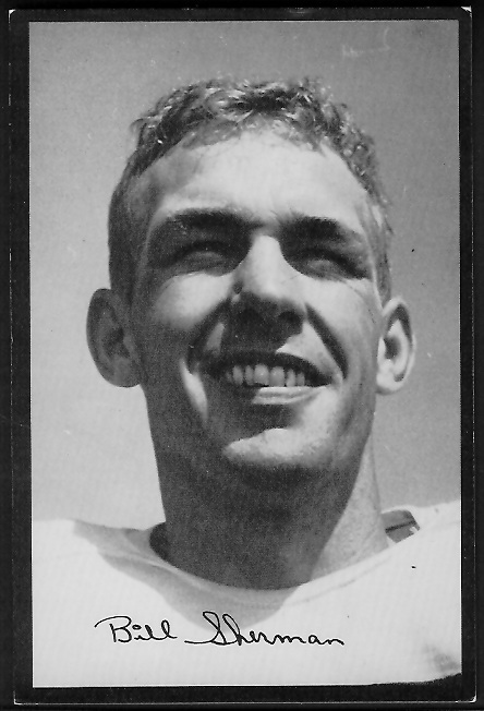 Will Sherman 1955 Rams Team Issue football card
