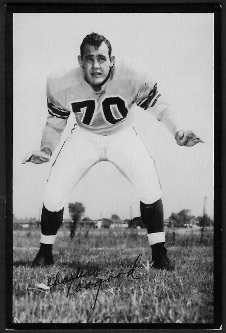 Charles Toogood 1955 Rams Team Issue football card