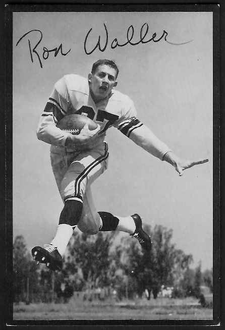 Ron Waller 1955 Rams Team Issue football card