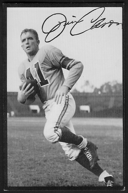 Jim Cason 1955 Rams Team Issue football card