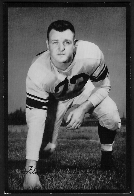 Bobby Cross 1955 Rams Team Issue football card