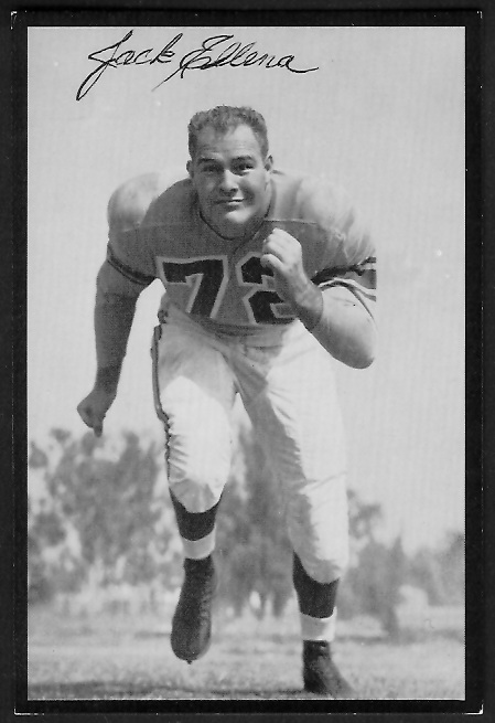 Jack Ellena 1955 Rams Team Issue football card