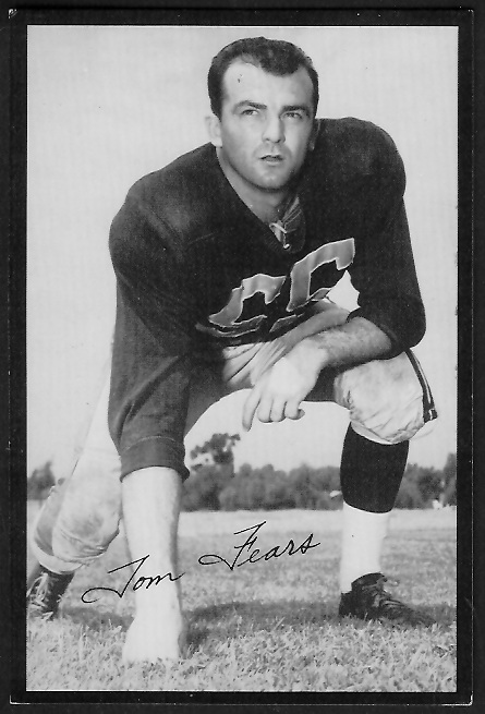 Tom Fears 1955 Rams Team Issue football card