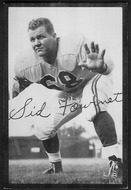 Sid Fournet 1955 Rams Team Issue football card
